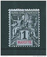 Colonie  Mayotte Timbres De 1892/99  N° 1  Neuf  * - Nuovi