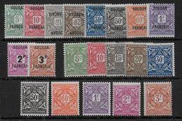 SOUDAN - TAXE COMPLETE  - YVERT N° 1/20 * CHARNIERE CORRECTE (SAUF 2 TIMBRES à L'ENVERS CH. FORTE) - COTE = 38 EUROS - Soudan (1894-1902)