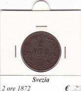 SVEZIA   2 ORE  ANNO 1872  COME DA FOTO - Svezia