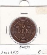 SVEZIA   5 ORE  ANNO 1906  COME DA FOTO - Svezia