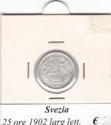 SVEZIA   25 ORE  ANNO 1902  COME DA FOTO - Svezia