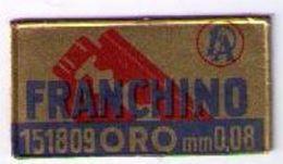 LAMETTA DA BARBA - FRANCHINO ORO  -  ANNO 1950 - Lamette Da Barba