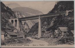 Amsteg - Reuss Und Viaduct - Gotthardbahn - Photo: F. Beeler No. 1210 - UR Uri