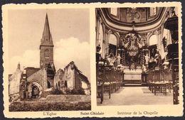 Saint-Ghislain -  L'Eglise Et Intérieur De La Chapelle - édit. Buyle - Saint-Ghislain