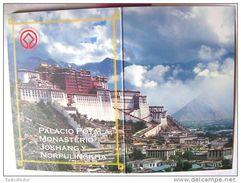 C02 Tibet Post Card Book 10 Piece World Cultural Heritage Logo - Tibet