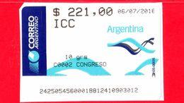 ARGENTINA - Usato - 2016 - ATM - Correo Argentino - Congreso - 221.00 - Affrancature Meccaniche/Frama