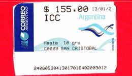 ARGENTINA - Usato - ? - ATM - Correo Argentino - San Cristobal - 155.00 - Affrancature Meccaniche/Frama