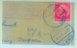 """Landpoststempel """"Schlüdtrigenüber Werl"""" Briefstück 1934 - Deutschland"""