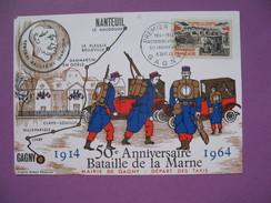 """Carte-Maximum N° 1429  Le Rassemblement Des """" Taxis De La Marne """"   1964 - Maximum Cards"""