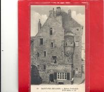 20. SAINT-POL-DE-LEON - MAISON PREBENDALE XVIe/S . ECRITE LE 15-9-1949 AU VERSO - Saint-Pol-de-Léon