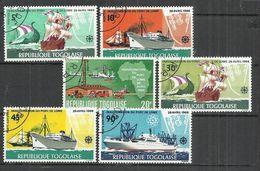 TOGO 1968 - INAUGURATION OF LOME HARBOR - CPL. SET - OBLITERE USED GESTEMPELT USADO - Ships