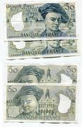 """D17 France 50 Francs """""""" De La TOUR """""""" 1988 + 1992 - 50 F 1976-1992 ''Quentin De La Tour''"""