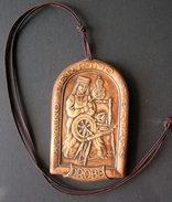 1980s Lithuania Drobe Handcrafted Ceramic Medal - Ceramics & Pottery