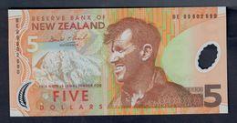 New Zealand 5 $ 1999 Edmund Hillary  Fds Unc Lotto 032 - Nueva Zelandía
