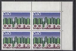 FRANCE 1975 - BLOC DE 4 TP Y.T. N° 1864 COIN DE FEUILLE - NEUFS** /Y247 - Frankreich