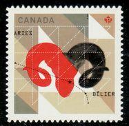 CANADA 2011,DIE CUT, # 2449i, SIGNS OF THE ZODIAC:ARIES - Carnets
