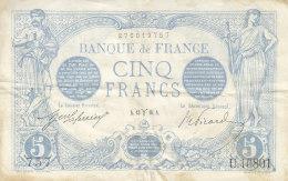 Billet 5 F Bleu Du 13-3-1916 FAY 2.37 Alph. U.10801 1 Seul épinglage - 1871-1952 Anciens Francs Circulés Au XXème