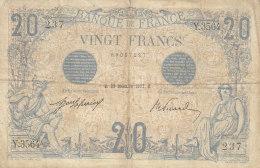 Billet 20 F Bleu Du 23-12-1912 FAY 10.2 Alph. Y.3564 - 20 F 1905-1913 ''Bleu''
