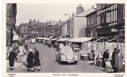 Old Postcard, Ormskirk, Market Day, VW Beetle, Coccinelle, Käfer, Kever (pk39066) - Altri