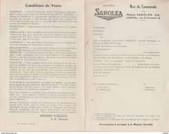 Motos Saroléa - Bon De Commande De La Maison Saroléa à Herstal - 2 Feuillets Recto Verso ( Voir Scans ) - Motorbikes