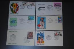 Lot De 6 Enveloppes FDC Premier Jour Sénégal 1963 1964 - Sénégal (1960-...)