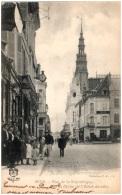 89 SENS - Rue De La République Et La Flèche De L'hotel De Ville  (Recto/Verso) - Sens