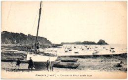 35 CANCALE - Un Coin Du Port à Marée Basse  (Recto/Verso) - Cancale
