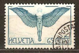 Zu 10z / Mi 189z / YT 10 Papier Gaufré Obl. SBK 15,- Voir Description - Poste Aérienne