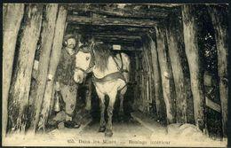 Cpa  Buxières Les Mines  Roulage Au Cheval Dans La Mine,  Beau Plan - France