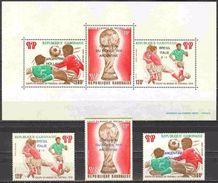 Soccer Football Gabon #670/2 + Bl 35 1978 Ovpt World Cup Argentina MNH ** - World Cup
