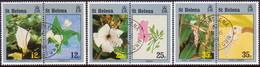 ST HELENA 1994 SG #653-58 Compl.set In Horiz.pairs Used Flowers And Children's Art - Saint Helena Island