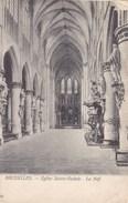 Brussel, Bruxelles, Eglise Saint Gudule, Le Nef (pk39087) - Monumenten, Gebouwen