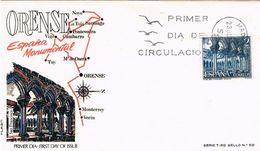 Spanien FDC 1875 - Kloster San Francisco In Orense - Architektur, Abtei, Abbey, Monasterio - 1931-Heute: 2. Rep. - ... Juan Carlos I