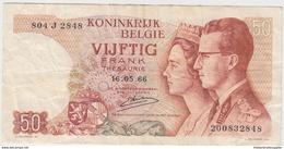 BELGIQUE 50 Francs 1966 P139 VF- - [ 2] 1831-... : Royaume De Belgique