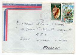 Nlle Calédonie--1982--Lettre  Pour Auxerre-89 - Composition De Tps(coquillage...) Sur Lettre--cachet - Briefe U. Dokumente