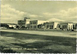 CATANIA   Aeroporto Civile Con Etna Innevato - Aerodromi