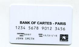 """Spécimen Prototype Essai De Carte De Crédit """"Bank Of Cartes - Paris"""" Carte Bleue Bancaire - Bank Card - Cartes De Crédit (expiration Min. 10 Ans)"""