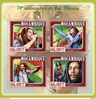 MOZAMBIQUE 2015 SHEET BOB MARLEY SINGERS MUSIC Moz15107a - Mozambique