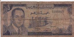 Billet/ Banque  Du Maroc / Cinq Dirhams / 1970        BILL151 - Marruecos