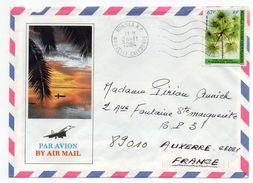 Nlle Calédonie-1984-Lettre Pour AUXERRE-89 - Tp Flore Seul Sur Lettre--env Illustrée -cachet NOUMEA RP - Briefe U. Dokumente