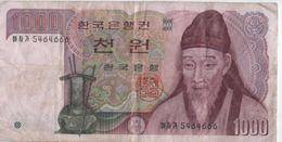 Billet/ The Bank Of Korea/ 1000 Won  / 1985 ?         BILL152 - Korea, South