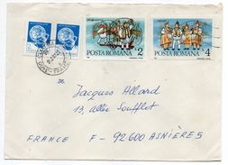 Roumanie-1987-Lettre De CLUJ-NAPOCA Pour ASNIERES-92(France) -Composition Timbres Sur Lettre--cachet CLUJ - 1948-.... Republics