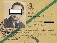 Laissez-passer Spécial Délivré à Markirch , Sainte-Marie Aux Mines ,Alsace ,1944 ,2 Scans - Documenten