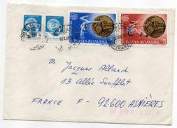 Roumanie-1987-Lettre De CLUJ-NAPOCA Pour ASNIERES-92(France) -Composition Timbres J.O 84-- LOS ANGELES--cachet CLUJ - 1948-.... Républiques