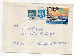 Roumanie-1977-Lettre De CLUJ-NAPOCA Pour ASNIERES-92(France) -Composition Timbres (bateau)-cachet CLUJ - Cartas