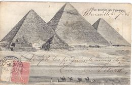 VUE GENERALE DES PYRAMIDES 1906   CARTE ANIMEE - Gizeh