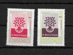 AÑO MUNDIAL DEL REFUGIADO 1960 ARGENTINA L'ARGENTINE COMPLETE SET JALIL GOTTIG NRS. 1164-1165 MNH SERIE COMPLETA - Refugiados