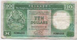 Billet/The Hongkong And Shangaï Banking Corporation  / Ten Dollars / 1992     BILL156 - Hong Kong