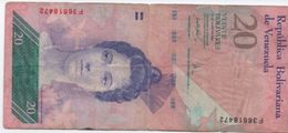 Billet/Venezuela/ Banco Central De Venezuela/ Républica Bolivariana De Venezuela/Veinte Bolivares/2007     BILL157 - Venezuela