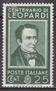 ITALY   SCOTT NO. 389    MINT HINGED     YEAR 1937 - Mint/hinged